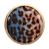 Nikki Lissoni Blue Leopard Print Gold-Plated 33mm Coin MPN: C1220GM EAN: 8718627465530