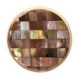 Nikki Lissoni Brown Shell Mosaic Gold-Plated 33mm Coin MPN: C1231GM EAN: 8718627465653