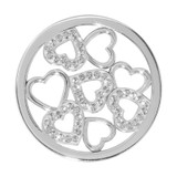 Nikki Lissoni Sparkling Hearts Silver-Plated 33mm Coin MPN: C1236SM EAN: 8718627465769