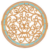 Nikki Lissoni Turquoise Fantasy Curls Gold-Plated 43mm Coin MPN: C1249GL EAN: 8718627465899