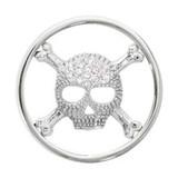 Nikki Lissoni Sparkling Skull Silver-Plated 33mm Coin MPN: C1267SM EAN: 8718627466643