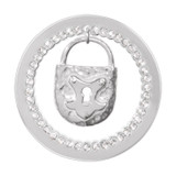 Nikki Lissoni Sparkling Lock Dangle Silver-Plated 33mm Coin MPN: C1292SM EAN: 8718627467855