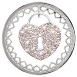 Nikki Lissoni Sparkling Lock Silver-Plated 43mm Coin MPN: C1293SL EAN: 8718627467879