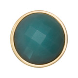 Nikki Lissoni Faceted Amazonite Gold-Plated 23mm Coin MPN: C1304GS EAN: 8718627468111