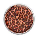 Nikki Lissoni Brown Leopard Print Silver-Plated 33mm Coin MPN: C1326SM EAN: 8718627468005