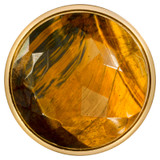 Nikki Lissoni Faceted Tigers Eye Gold-Plated 43mm Coin MPN: C1363GL EAN: 8718627469101