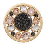 Nikki Lissoni Sunflower Rock Crystal Gold-Plated 33mm Coin MPN: C1551GM EAN: 8718819233985