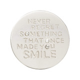 Nikki Lissoni Never Regret Something That Once Made You Smile Silver-Plated 23mm Coin MPN: C1559SS EAN: 8718819234722