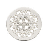 Nikki Lissoni Xo Silver-Plated 23mm Coin MPN: C1562SS EAN: 8718819234685