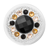 Nikki Lissoni Surrounded By Hearts Dark Silver-Plated 33mm Coin MPN: C1574SM EAN: 8719075300183