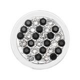 Nikki Lissoni Fashionable Black Silver-Plated 23mm Coin MPN: C1593SS EAN: 8719075300459