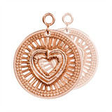 Nikki Lissoni My Heart Will Protect You 2 Pieces Rose Gold-Plated 24mm Earrings MPN: EAC2028RG EAN: 8718819231363