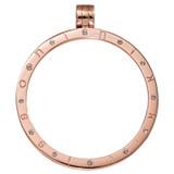 Nikki Lissoni Rose Gold-Plated Pendant with 12 Swarovski Stones 45mm Coin Holder MPN: P05RGL EAN: 8718819234043