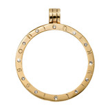 Nikki Lissoni Gold-Plated Pendant with 12 Swarovski Stones 35mm Coin Holder MPN: P06GM EAN: 8718819234067