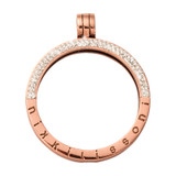 Nikki Lissoni Rose Gold-Plated Pendant with Swarovski Stones 35mm Coin Holder MPN: P09RGM EAN: 8718819235774