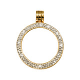 Nikki Lissoni Gold-Plated with Swarovski Stones 25mm Coin Holder MPN: PSW02GS EAN: 8718627468449