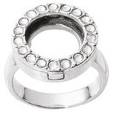 Nikki Lissoni Interchangeable Ring with Swarovski Stones Silver-Plated Size 10 MPN: R1005S10 EAN: 8718819238324