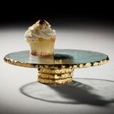 Annieglass Edgey Cupcake Stand 9 1/2 Inch - Gold MPN: E139G