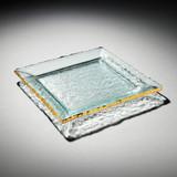 Annieglass Edgey Square Platter 12 Inch - Gold MPN: E203G