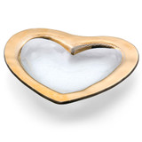 Annieglass Hearts Bowl 8 Inch - Gold MPN: CSH101G