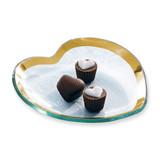 Annieglass Hearts Plate 7 Inch - Gold MPN: CSH102G