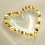Annieglass Hearts Ruffle Bowl 7 Inch - Gold MPN: G201