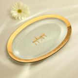 Annieglass Judaica Challah Platter 11 x 17 Inch - Gold MPN: J117G