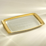 Annieglass Gold Roman Antique Rectangular Tray 11 x 18 Inch MPN: G117