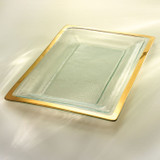 Annieglass Gold Roman Antique Buffet Server 18 3/4 x 12 1/4 Inch MPN: G213
