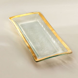 Annieglass Gold Roman Antique Appetizer Tray 13 1/2 x 6 Inch MPN: G214