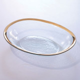 Annieglass Gold Roman Antique Large Oval Serving Bowl 12 1/2 x 15 1/2 Inch MPN: G219