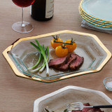 Annieglass Gold Roman Antique Steak Platter 14 x 10 1/2 Inch MPN: G227