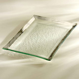 Annieglass Platinum Roman Antique Martini Tray 14 1/2 x 10 Inch MPN: P130