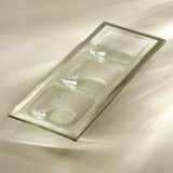 Annieglass Platinum Roman Antique Three-Section Tray 14 x 5 1/2 Inch MPN: P141