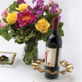 Annieglass Ruffle Gold Wine Coaster 7 3/4 Inch MPN: G185