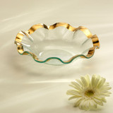 Annieglass Ruffle Gold Soup Bowl 10 Inch MPN: G195
