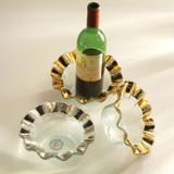 Annieglass Ruffle Platinum Wine Coaster 7 3/4 Inch MPN: P185