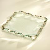 Annieglass Ruffle Platinum Square Tray 15 Inch MPN: P205