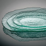 Annieglass Salt Medium Oval Tray 16 x 11 1/4 Inch MPN: SA117
