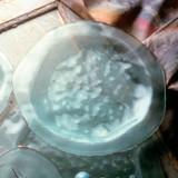 Annieglass Shells Platinum Dinner Plate 10 Inch MPN: BC106P