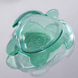 Annieglass Ultramarine Small Turtle Bowl Green 7 1/2 x 6 1/2 Inch MPN: SE300G
