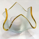 Annieglass Votives Handkerchief Gold 4 x 4 x 3 Inch MPN: HV100G