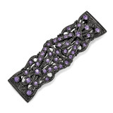 2363 Boutique Jewelry Fashion Purple Swarovski Elements Hair Barrette Black-tone by 1928 Jewelry MPN: BF3022