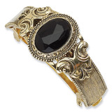 2365 Boutique Jewelry Fashion Brass-tone Black Acrylic Stone Ponytail Holder Black-tone by 1928 Jewelry MPN: BF153