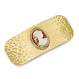 2382 Boutique Jewelry Fashion Acrylic Cameo Hair Barrette Gold-tone by 1928 Jewelry MPN: BF2962