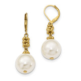 2384 Boutique Jewelry Fashion Acrylic Pearl Leverback Earrings Gold-tone by 1928 Jewelry MPN: BF2921
