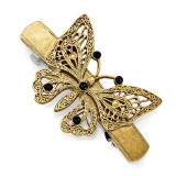 2395 Boutique Jewelry Fashion Blue Crystal Butterfly Hair Barrette Gold-tone by 1928 Jewelry MPN: BF2958