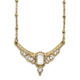 2414 Boutique Jewelry Fashion Clear Crystal and Glass with 3 Inch Extension Necklace Gold-tone Downton Abbey by 1928 Jewelry MPN: BF2192