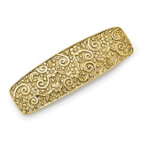 2443 Boutique Jewelry Fashion Flower and Swirl Hair Barrette Gold-tone by 1928 Jewelry MPN: BF2934
