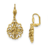 2467 Boutique Jewelry Fashion Yellow Crystal Dangle Leverback Earrings Gold-tone by 1928 Jewelry MPN: BF2935